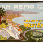 Sanremo, Grand Hotel West End, 1900, 100x70 - Galleria L'IMAGE - Manifesti originali del xx secolo