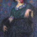 Lady-with-a-rose-Enrico-Lionne-Oil-Painting