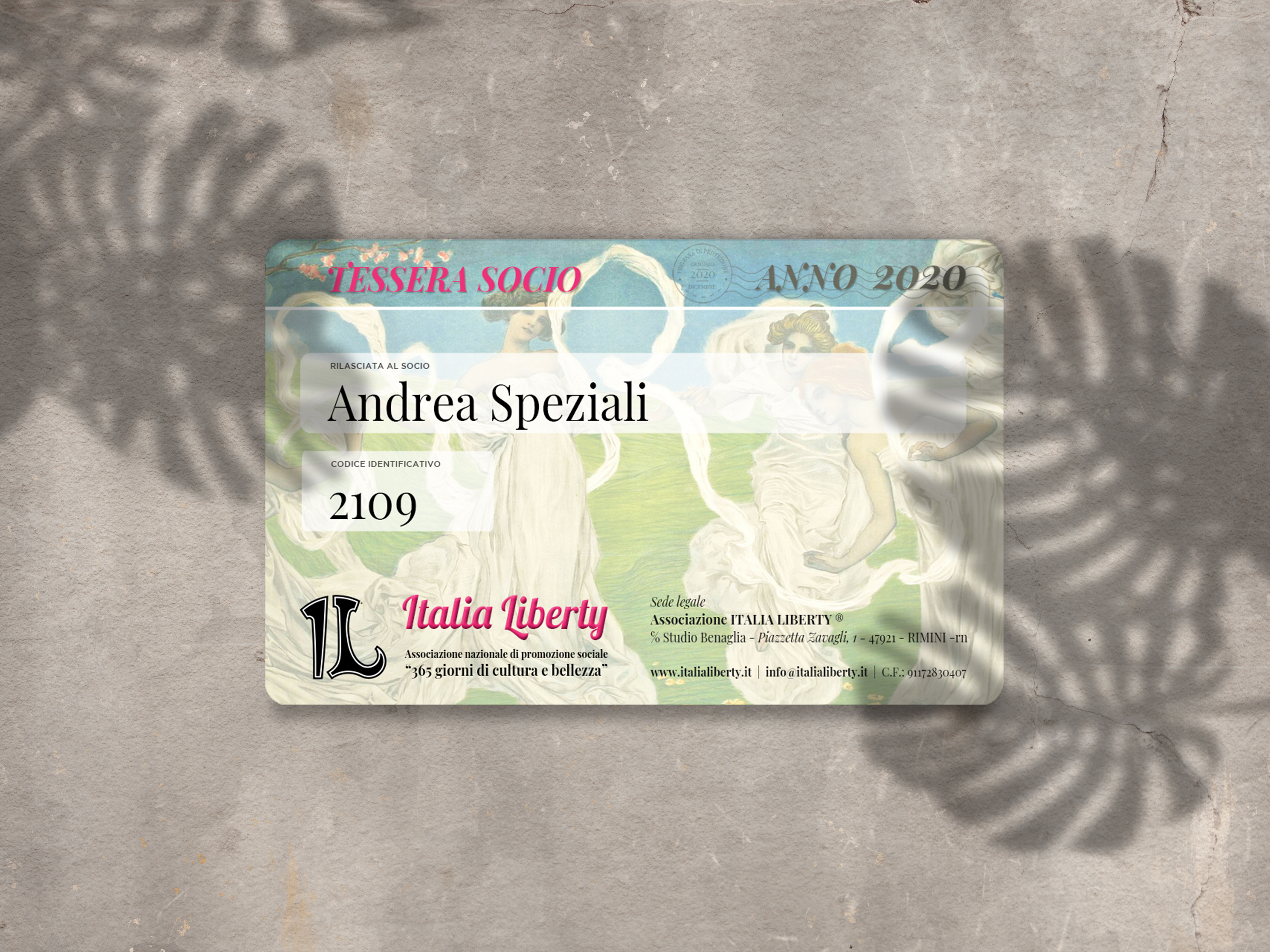 Editable mock up design with blank card on concrete texture with